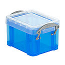 Box Really useful Boxes, Kunststoff, transparent blau